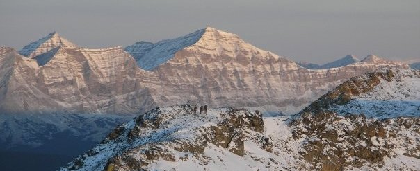 On the top of a mountain, taken on a trip using a LiteOutdoors titanium tent stove
